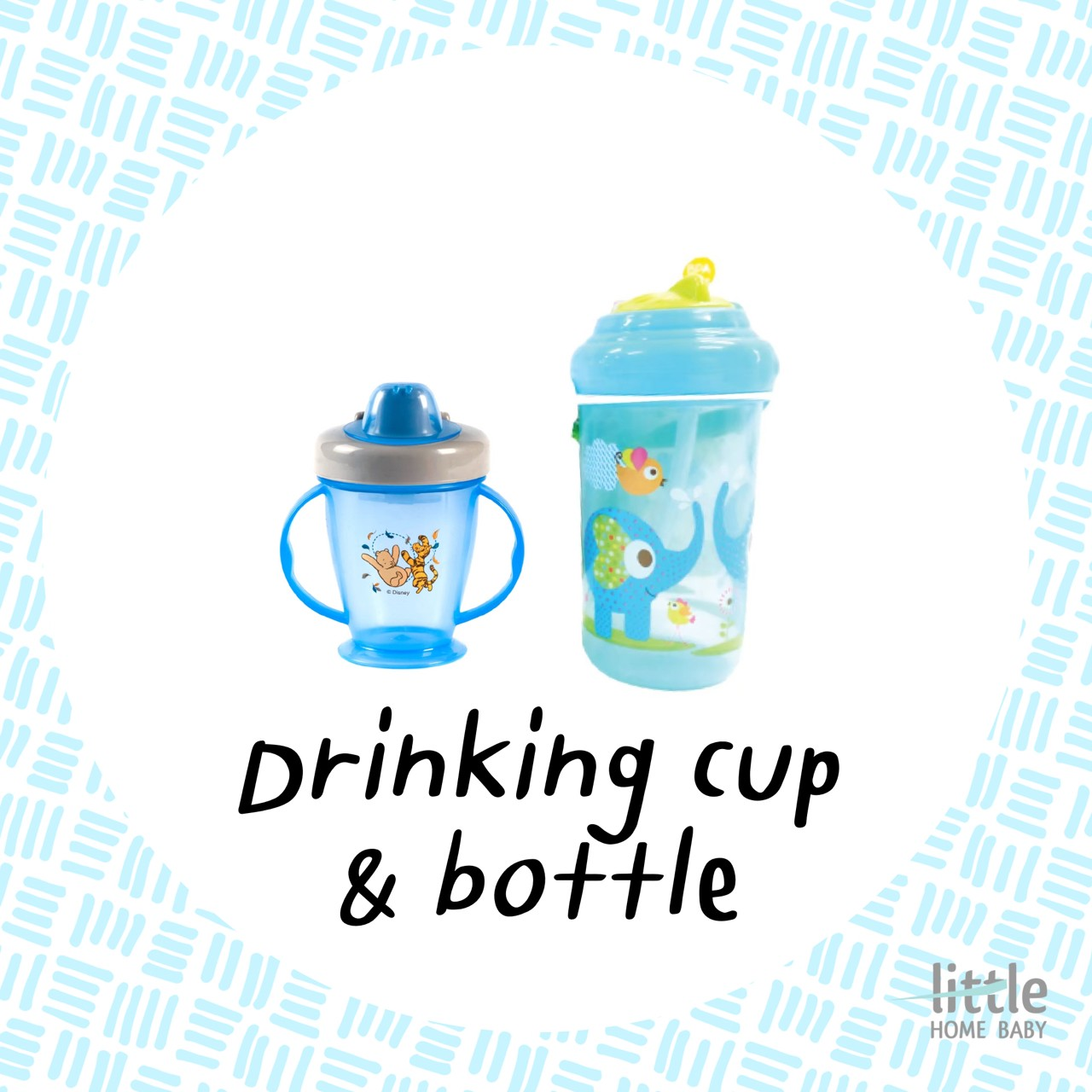 Drinking cup and bottle